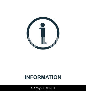 Information icon. Line style icon design. UI. Illustration of information icon. Pictogram isolated on white. Ready to use in web design, apps, softwar - Stock Photo