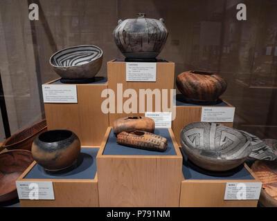 Ancestral Puebloan pottery, Anasazi Heritage Center, Dolores, Colorado. - Stock Photo