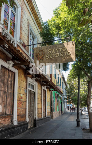 Santo Secreto nightclub in the lively district of Bellavista with many pubs and clubs, Santiago - Stock Photo