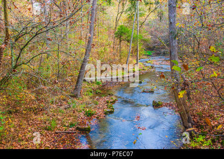 Blanchard Springs creek at Blanchard Springs Caverns in Arkansas, near Mountain View. - Stock Photo