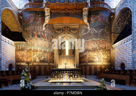 France, Tarn, Albi, the episcopal city, listed as World Heritage by UNESCO, the Last Judgement - Stock Photo
