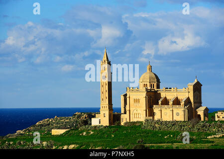 Ta' Pinu Basilica, Gharb, Gozo Island, Malta - Stock Photo
