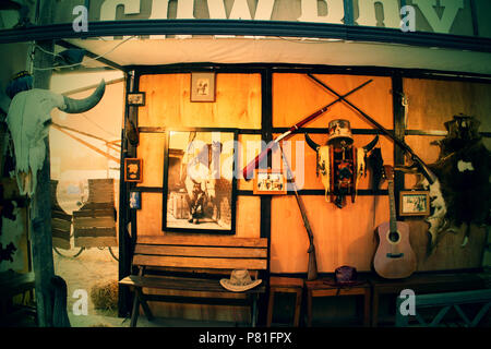 Home of the Cowboy with many decorative home - Stock Photo