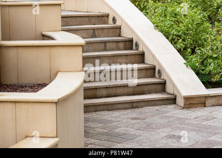 marble steps on the street - Stock Photo