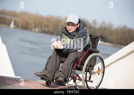 Belarus, Gomel, on April 11, 2018. City Day. Central Park. - Stock Photo