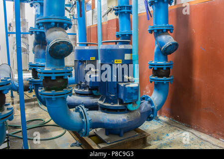 The electric water pump for air condition system - Stock Photo