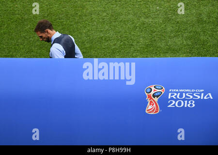 Moscow, Russia. 11th July, 2018.  Gareth SOUTHGATE (coach, ENG), disappointment, frustrated, disappointed, frustrated, dejected, Croatia (CRO) - England (ENG) 2-1 nV Semifinals, Round of Four, Game 62 on 07/11/2018 in Moscow, Luzhniki Stadium, football World Cup 2018 in Russia from 14.06. - 15.07.2018.   usage worldwide Credit: dpa/Alamy Live News Credit: dpa picture alliance/Alamy Live News - Stock Photo