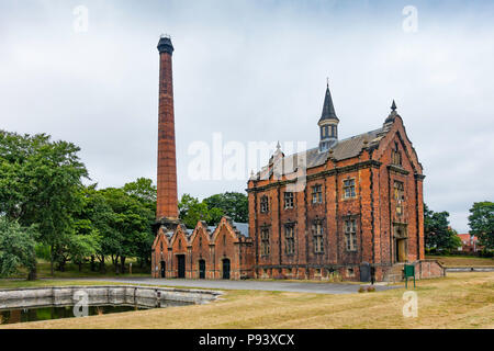 External view of the Ryhope Engines Museum a Grade 2* listed former steam powered water pumping station  built in 1868 to supply water to Sunderland - Stock Photo