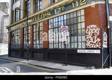 Premises of Godfrey Phillips Ltd in London - Stock Photo