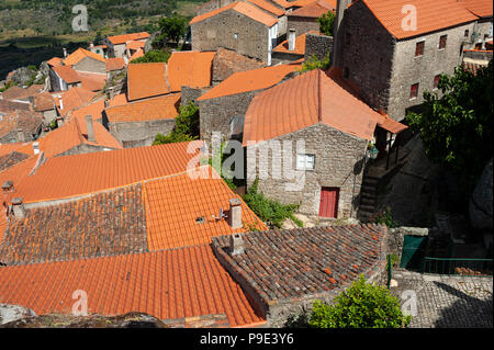 13.06.2018, Monsanto, Portugal, Europe - An elevated view of the Portuguese mountain village of Monsanto. - Stock Photo