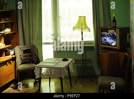 History of Poland. Upper Silesia. 20th century. Katowice. Interior of a typical house in the city, after its modernization. Silesian Museum (Silesian Museum). Katowice Poland. - Stock Photo