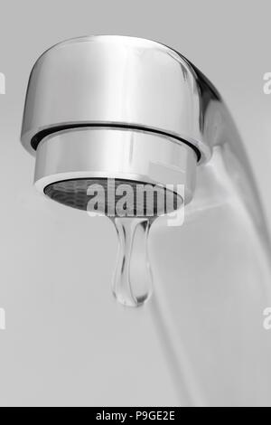 faucet, water, drop, objects, equipment - Stock Photo