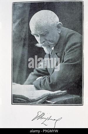 Joris-Karl Huysmans, (184 -1907), French novelist. - Stock Photo
