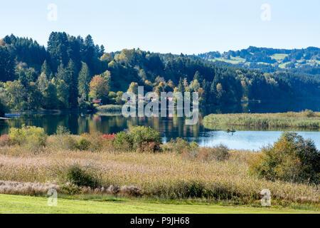 Niedersonthofener See mit Spiegelung - Stock Photo