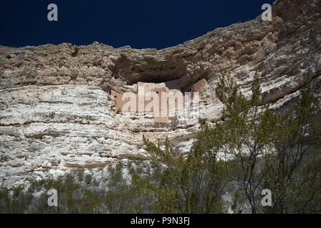 Montezuma Castle national Monument, Arizona USA - Stock Photo