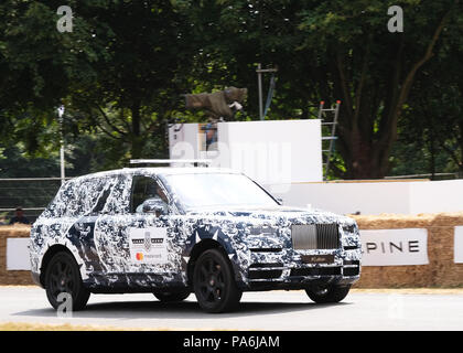 July 2018 - Rolls-Royce Cullinan on track at the 25th celebration of the Goodwood festival of Speed - Stock Photo