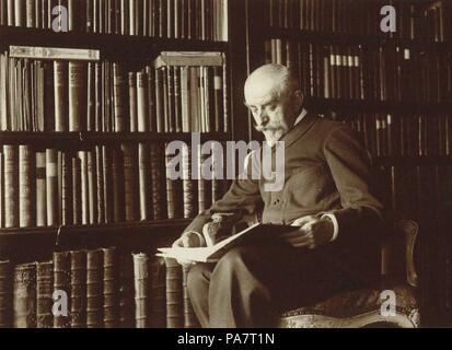 Portrait of the author Joris-Karl Huysmans (1860-1918). Museum: PRIVATE COLLECTION. - Stock Photo