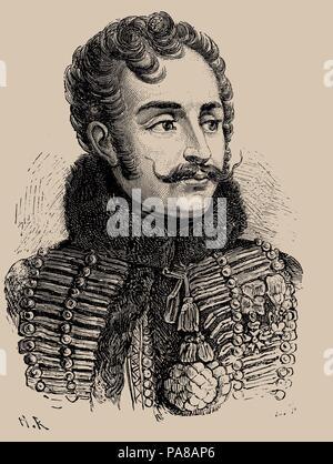 Antoine Charles Louis, Comte de Lasalle (1775-1809). Museum: PRIVATE COLLECTION. - Stock Photo