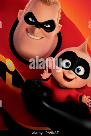 RELEASE DATE: June 15, 2018 TITLE: Incredibles 2 STUDIO: Pixar DIRECTOR: Brad Bird PLOT: Bob Parr (Mr. Incredible) is left to care for Jack-Jack while Helen (Elastigirl) is out saving the world. STARRING: Poster art. (Credit Image: © Pixar/Entertainment Pictures) - Stock Photo