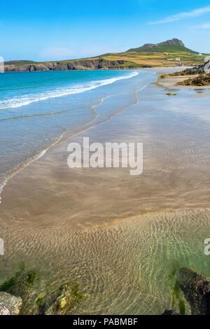 Whitesands Beach near St Davids in the Pembrokeshire Coast National Park, Wales, UK - Stock Photo