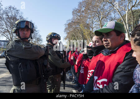 Buenos Aires, Argentina. 21st July, 2018. Social and political organization manifestate against the G-20 and the director of IMF (International Monetary Fund) meeting in Buenos Aires, Argentina. Credit: Julieta Ferrario/ZUMA Wire/Alamy Live News - Stock Photo