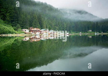 Remote village of Elfin Cove, Alaska - Stock Photo