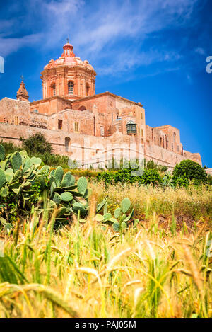 Mdina, Malta - a fortified city in the Northern Region of Malta, old capital of the island. - Stock Photo