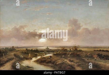 Leickert  Charles Henri Joseph - View on Haarlem - Stock Photo