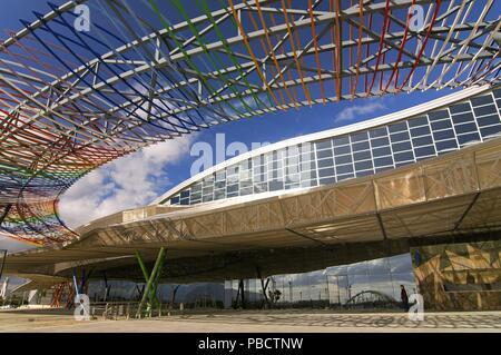 Trade Fairs and Congress Center, Malaga, Region of Andalusia, Spain, Europe. - Stock Photo