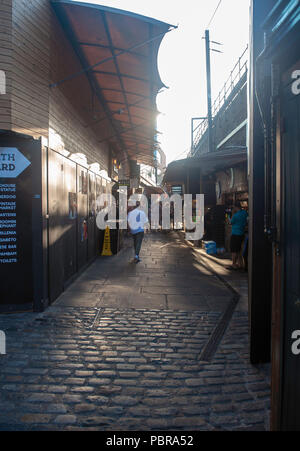 Cobbled lanes in The Stables, Camden Town - Stock Photo