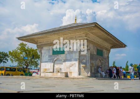 III. Ahmet Gulnus Emetullah Sultan Fountain is an Ottoman Fountain in the Uskudar district of Istanbul. - Stock Photo