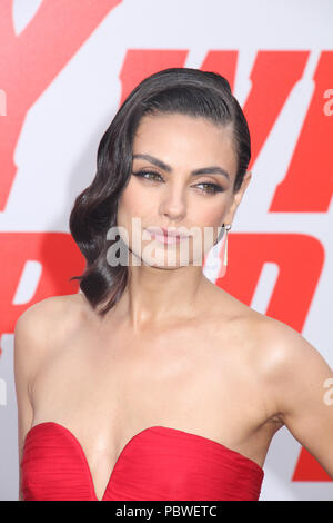 Mila Kunis  07/25/2018 The Los Angeles Premiere of 'The Spy Who Dumped Me' held at Regency Village Theater in Los Angeles, CA  Photo: Cronos/Hollywood News - Stock Photo