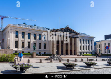 OSLO, NORWAY - APRIL 26, 2018:  The Faculty of Law of the University of Oslo is Norway's oldest law faculty - Stock Photo
