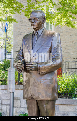 Jean Drapeau outdoor statue - Stock Photo