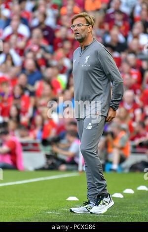 Dublin, Ireland. 4th Aug, 2018. Jurgen Klopp seen during the Liverpool vs SSC Napoli Pre-Season Friendly in Aviva Stadium. Credit: Ben Ryan/SOPA Images/ZUMA Wire/Alamy Live News - Stock Photo