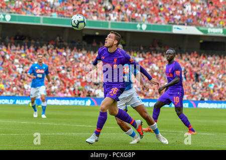 Dublin, Ireland. 4th Aug, 2018. Andy Robertson in action during the Liverpool vs SSC Napoli Pre-Season Friendly in Aviva Stadium. Credit: Ben Ryan/SOPA Images/ZUMA Wire/Alamy Live News - Stock Photo