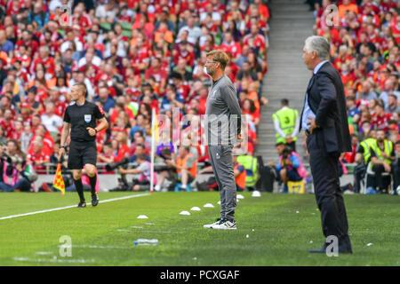 Dublin, Ireland. 4th Aug, 2018. Jurgen Klopp (M) seen during the Liverpool vs SSC Napoli Pre-Season Friendly in Aviva Stadium. Credit: Ben Ryan/SOPA Images/ZUMA Wire/Alamy Live News - Stock Photo