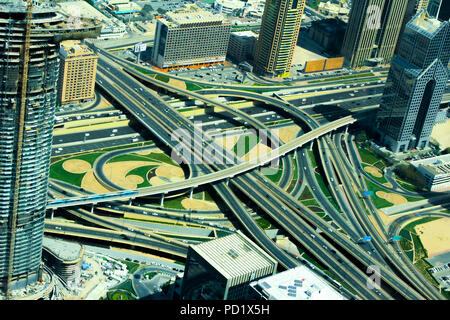 Roads view from the top - Stock Photo