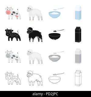 Production, nature, agriculture and other  icon in cartoon style.Animal, domestic, farm, icons in set collection. - Stock Photo