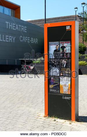 Event poster display, Didcot, Berkshire, England, UK - Stock Photo