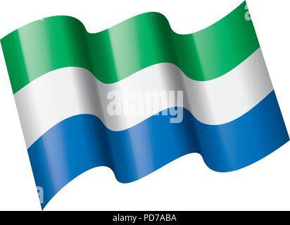 Sierra Leone flag, vector illustration - Stock Photo