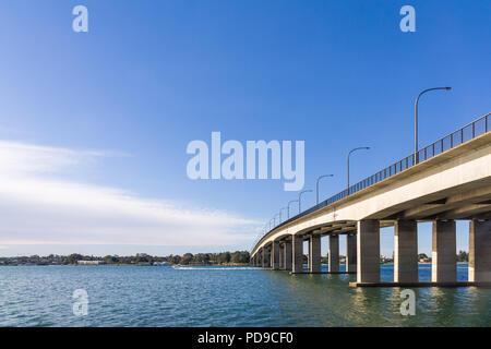 The Captain Cook Bridge in Sydney - Stock Photo