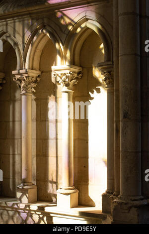 Inside Le Mans Cathedral, France - Stock Photo