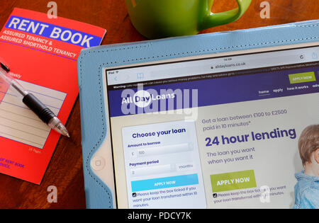 british payday type loans internet website - Stock Photo