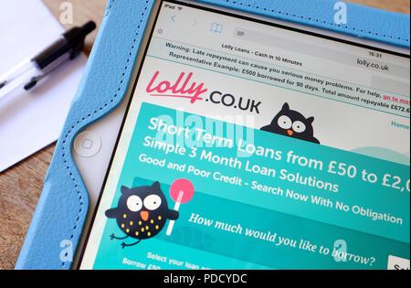 british payday type loans internet website - Stock Photo
