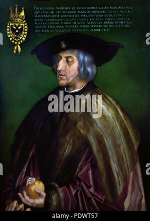 Kaiser Maximilian I. 1519 by ALBRECHT DÜRER (1471-1528) German Germany ( Maximilian I, Holy Roman Emperor ) - Stock Photo