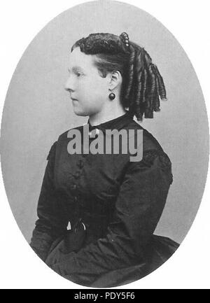 Archduchess Marie Henriette of Austria early 1860s. - Stock Photo