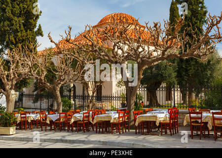 Famous Placa district in Athens, Greece - Stock Photo