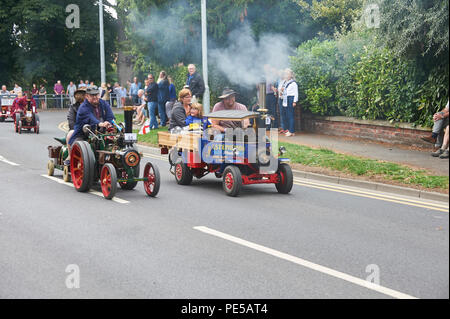 Miniature Steam Engines on the Road Run Through Driffield East Yorkshire, England, UK, GB. - Stock Photo