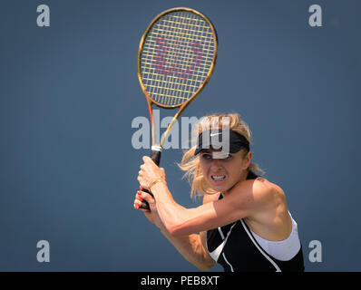 Cincinnati, OH, USA. 13th Aug, 2018. Elina Svitolina of the Ukraine during practice at the 2018 Western & Southern Open WTA Premier 5 tennis tournament. Cincinnati, Ohio, USA, August 13th 2018. Credit: AFP7/ZUMA Wire/Alamy Live News - Stock Photo